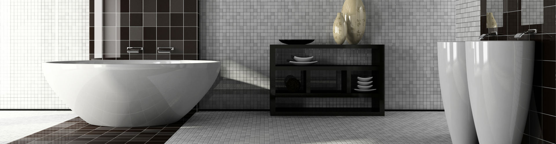 Bathroom with Floor and Wall Tile