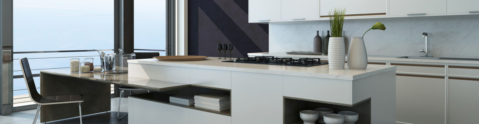 Quartz Kitchen Countertop and Island