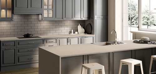 White Dune Quartz Kitchen Countertop by LG